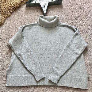 Ann Taylor Loft Grey Sweater Turtleneck Sz S